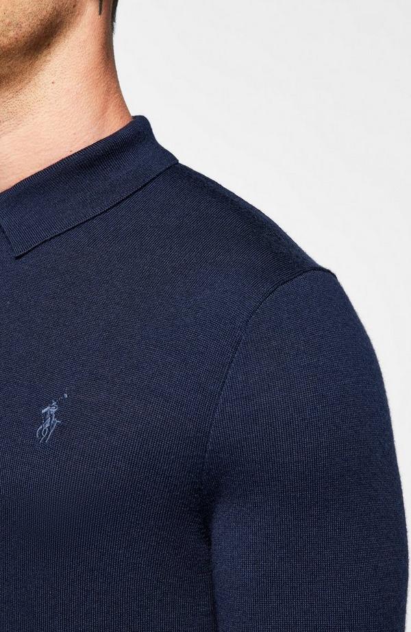 Small Pp Merino Long Sleeve Polo