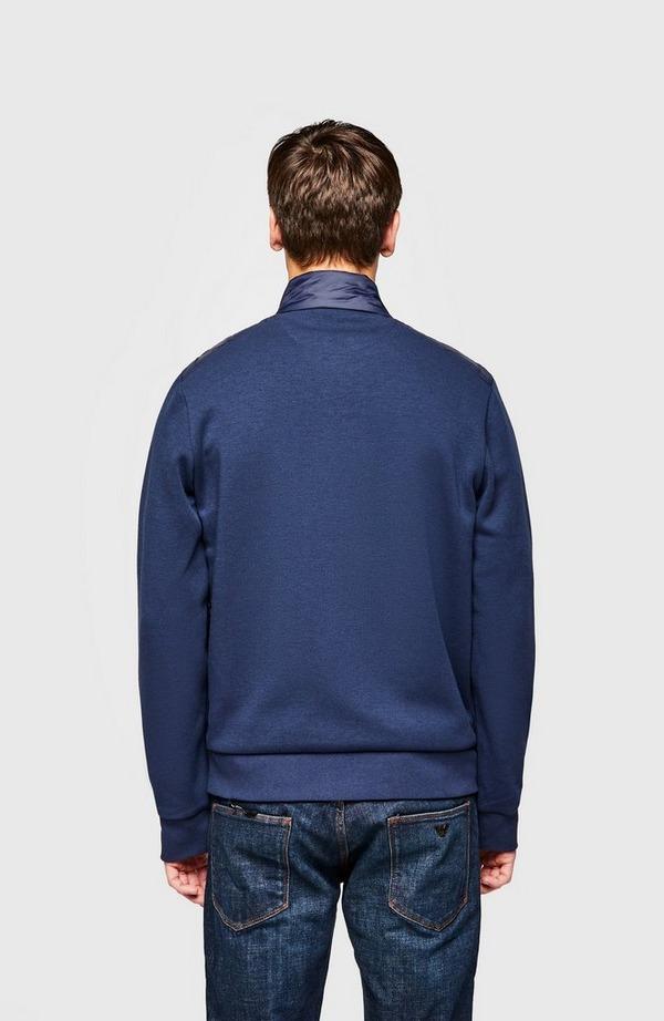 Quilt Front Zip Knit