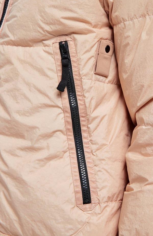 Badge Arm Crinkle Reps Hooded Jacket