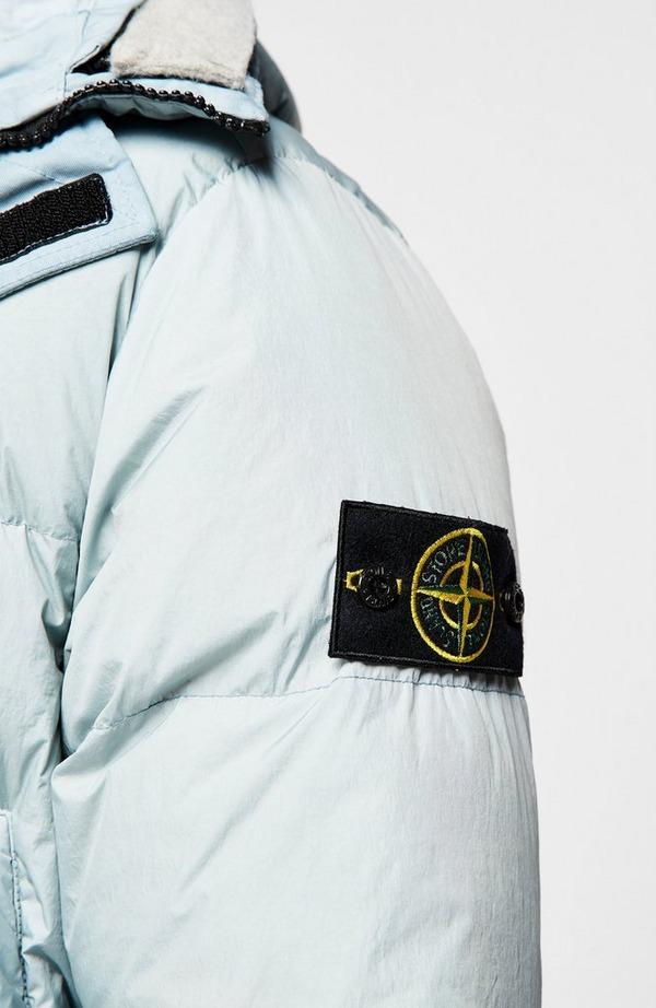 Badge Arm Crinkled Reps Hooded Parka