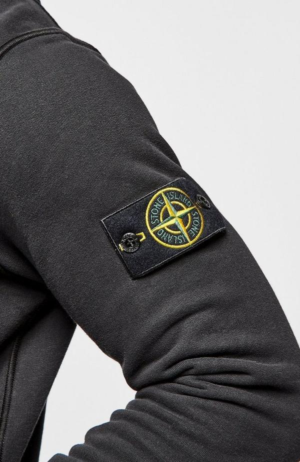 Badge Arm Garment Dyed Hoodie