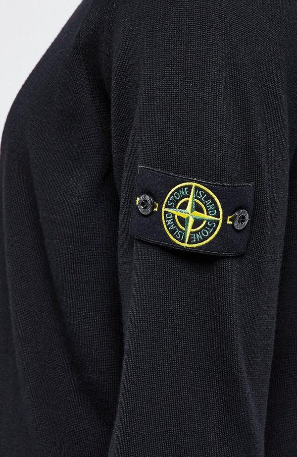 Badge Arm Merino Crewneck Knit