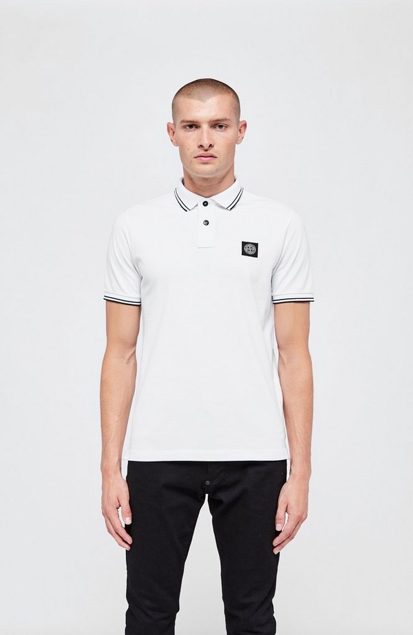 Patch Tipped Short Sleeve Polo