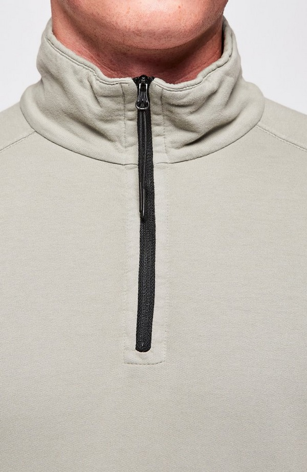 Lens Arm Lightweight Quarter Zip Sweatshirt