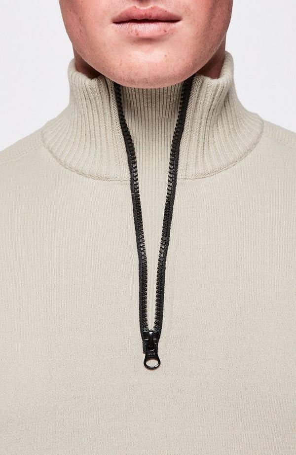 Lens Arm Quarter Zip Knit