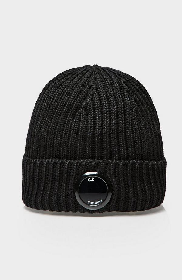 Ribbed Lens Beanie Hat
