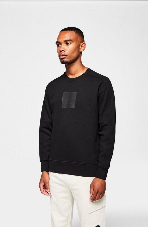 Metropolis Large Patch Crewneck Sweatshirt