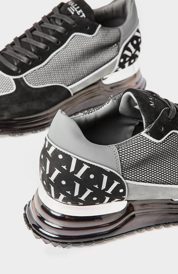 Popham Gas Grey Mesh Reflective Runner