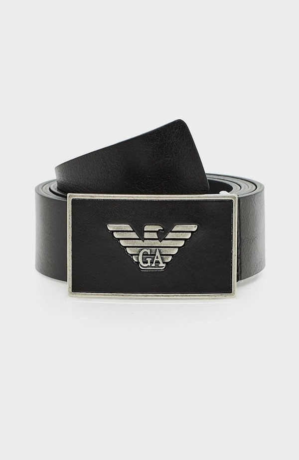 Leather Eagle Buckle Leather Belt