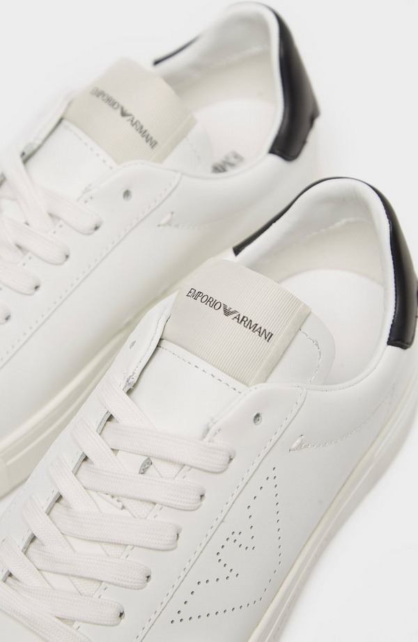 Perforated Eagle Side Leather Trainer