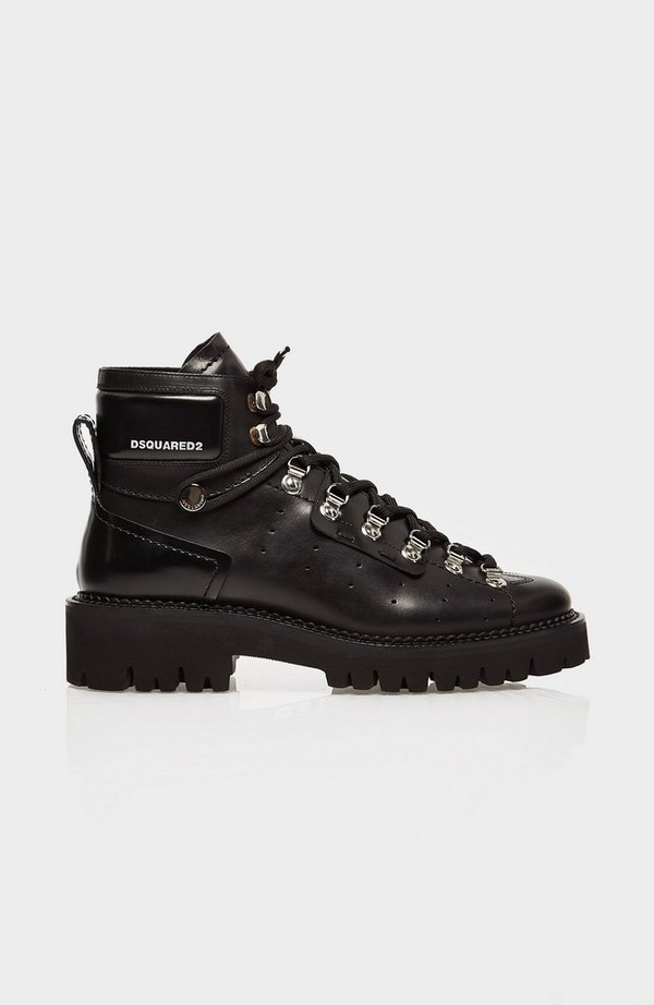 Logo Leather Hiking Boot