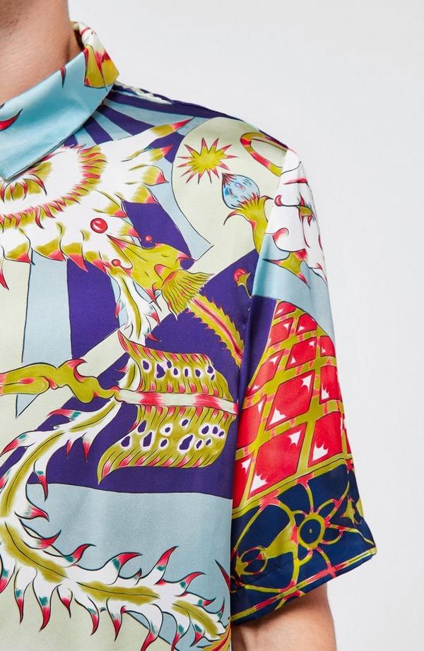 Lovani All Over Print Short Sleeve Shirt