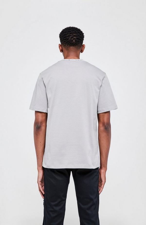 Derib Neck Logo Short Sleeve T-Shirt