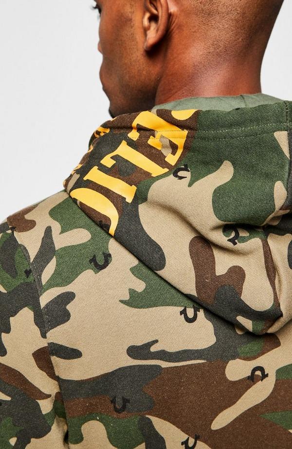 Camouflage Zip Up Hooded Sweatshirt