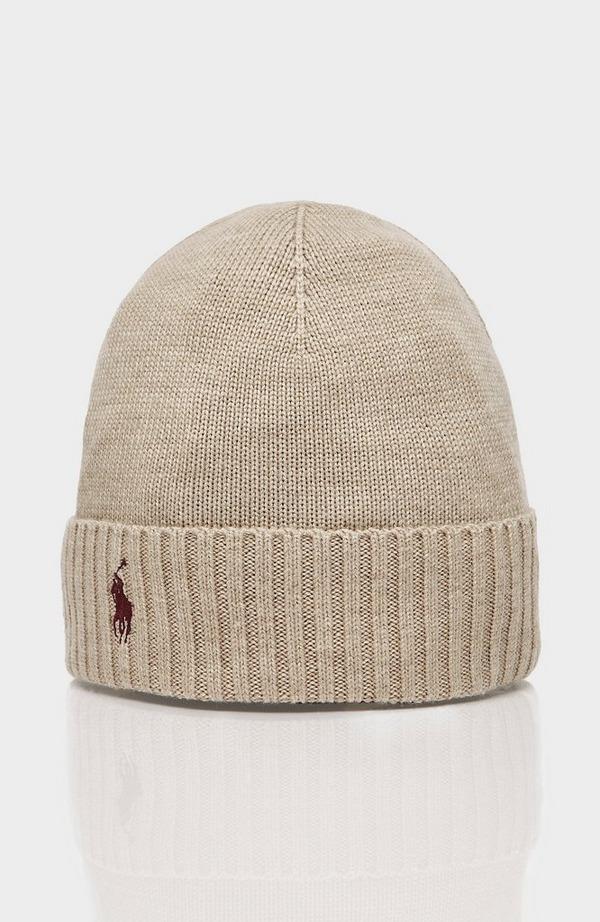 Ribbed Merino Wool Beanie Hat