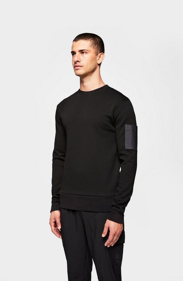 Pocket Sleeve Crew Neck Sweatshirt