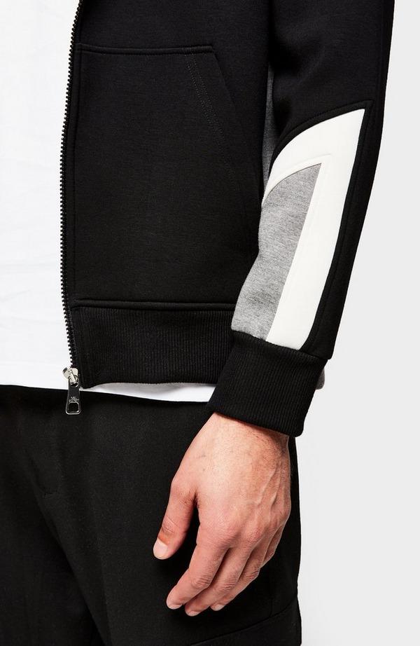 Modernist Thunderbolt Zip Up Hoodie