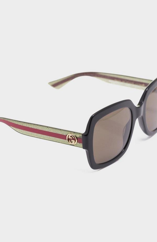 Side Badge Large Plastic Sunglasses