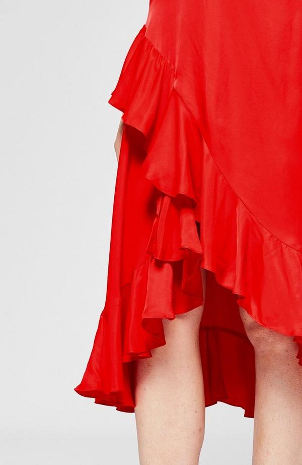 Long Slip Ruffles Dress