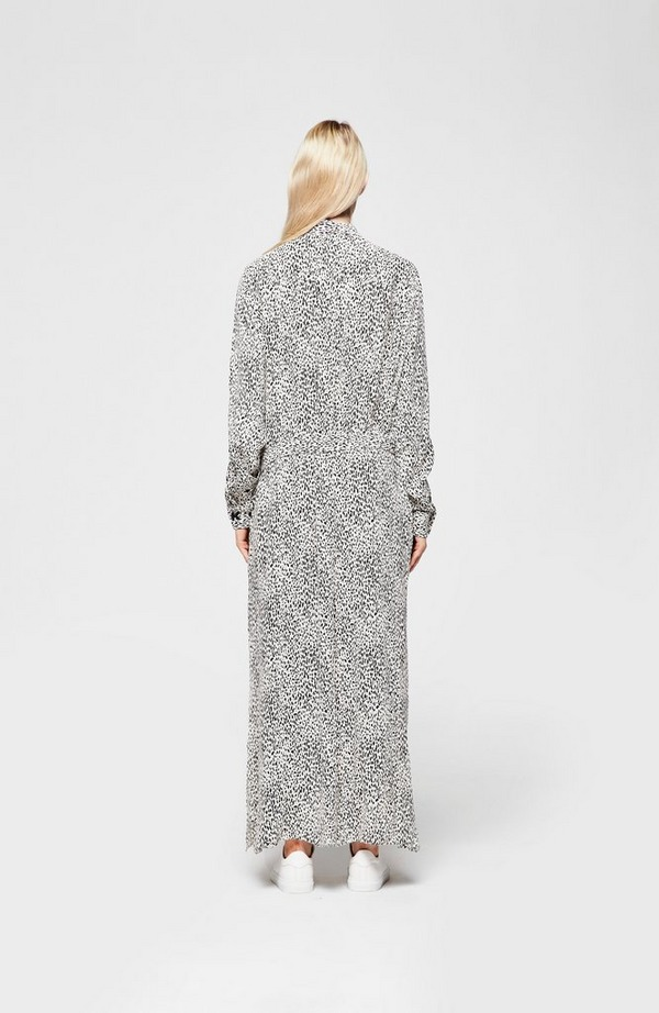 Printed Crepe Shift Dress