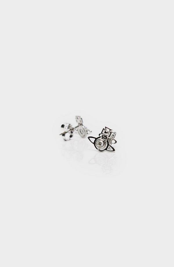 Nora Rhodium Stud Earrings Colour: Silv W005759