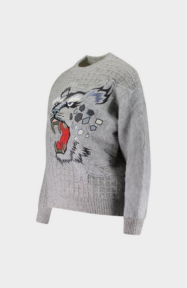 Roaring Embroidered Wool Jumper