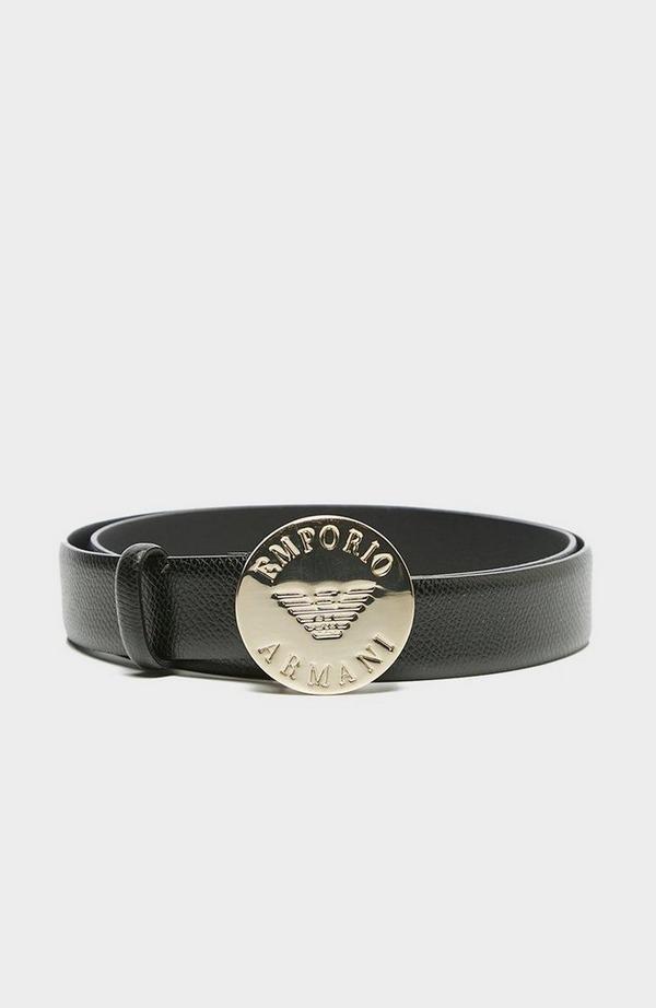 Round Logo Buckle Belt