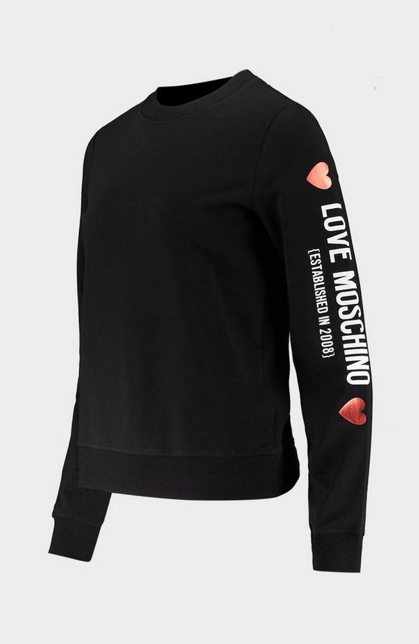 Core Logo Arm Crew Neck Sweatshirt