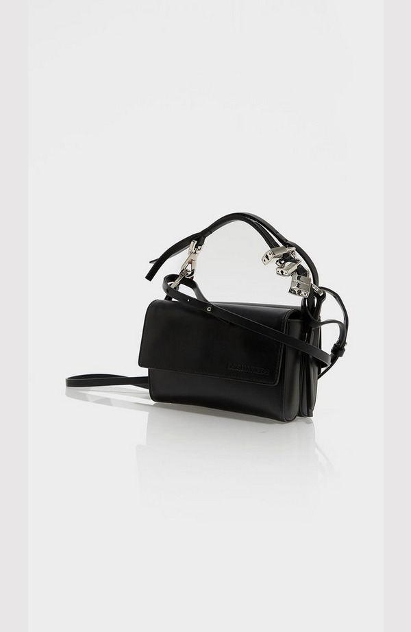 Leather Metal Clap Bag