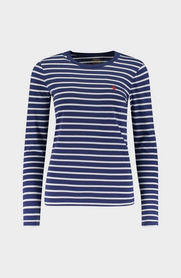 Stripe Badge Long Sleeve T-Shirt
