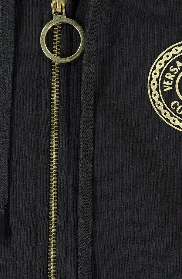 Round Foil Logo Zip Up Sweatshirt