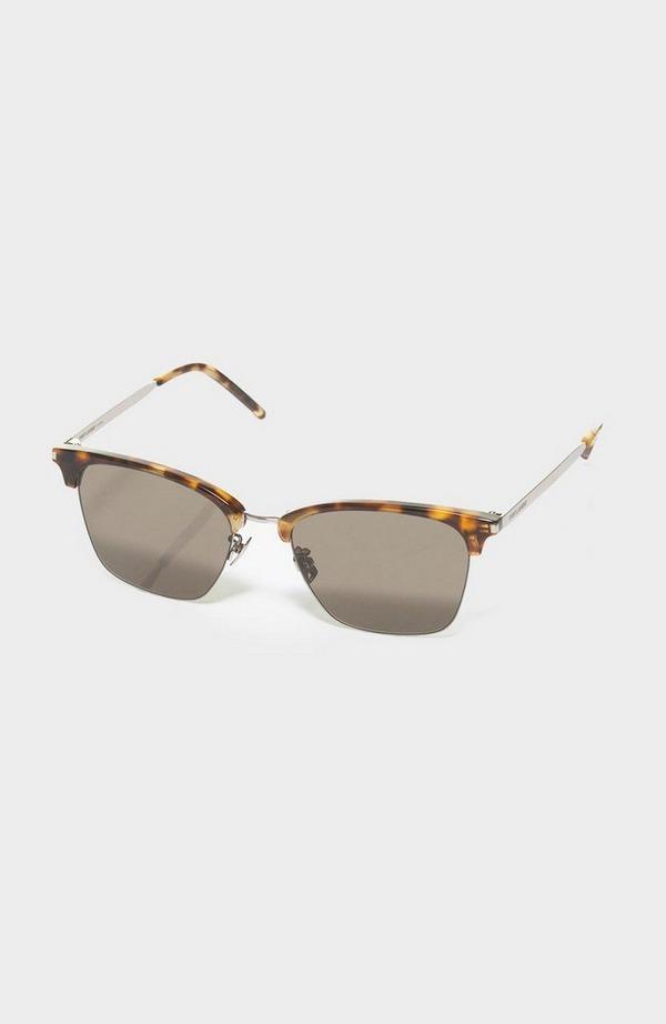 Half Frame Acetate Wayfarer Sunglasses