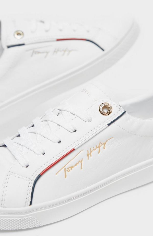 Flag Trim Signature Logo Sneaker