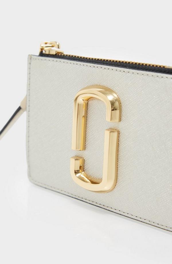Snapshot Metallic Top Zip Wallet