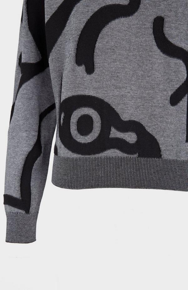 K Tiger Crew Neck Knitted Jumper