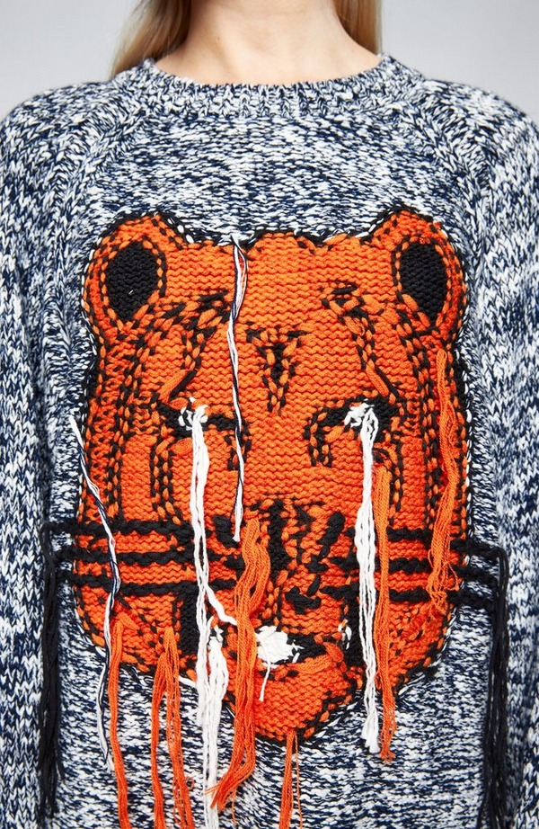 K Tiger Intarsia Dress