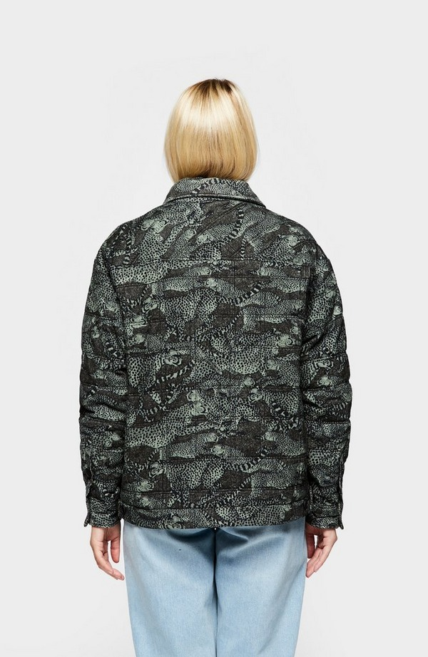K Cheetahs Print Overshirt Jacket