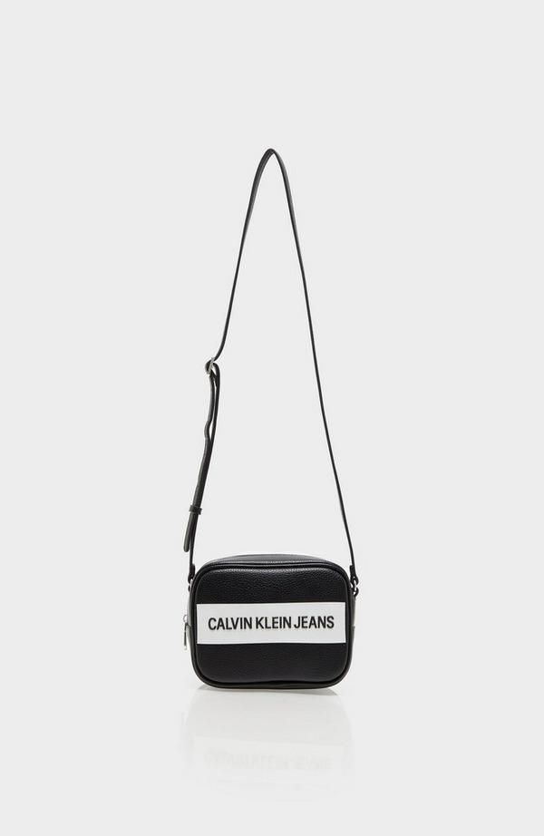 Block Logo Pu Camera Bag