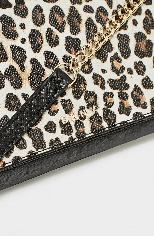 Bryant Saffiano Leopard Flap Crossbody Bag