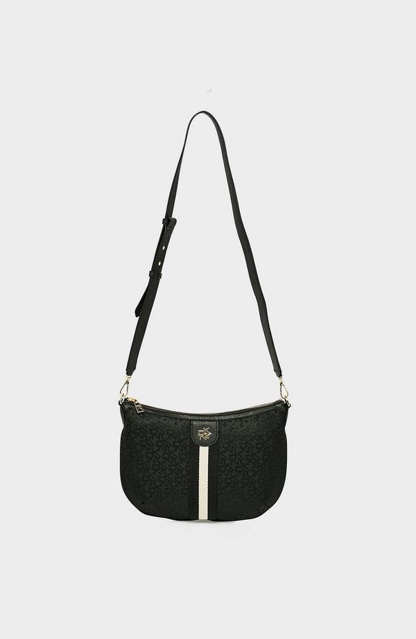 Carol T&C Logo Saddle Crossbody Bag