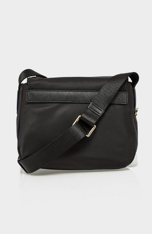 Cora Nylon Flap Crossbody Bag