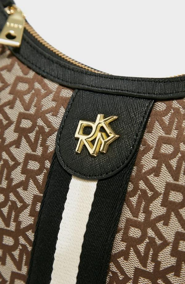 Carol Jacquard Logo Medium Crossbody Bag