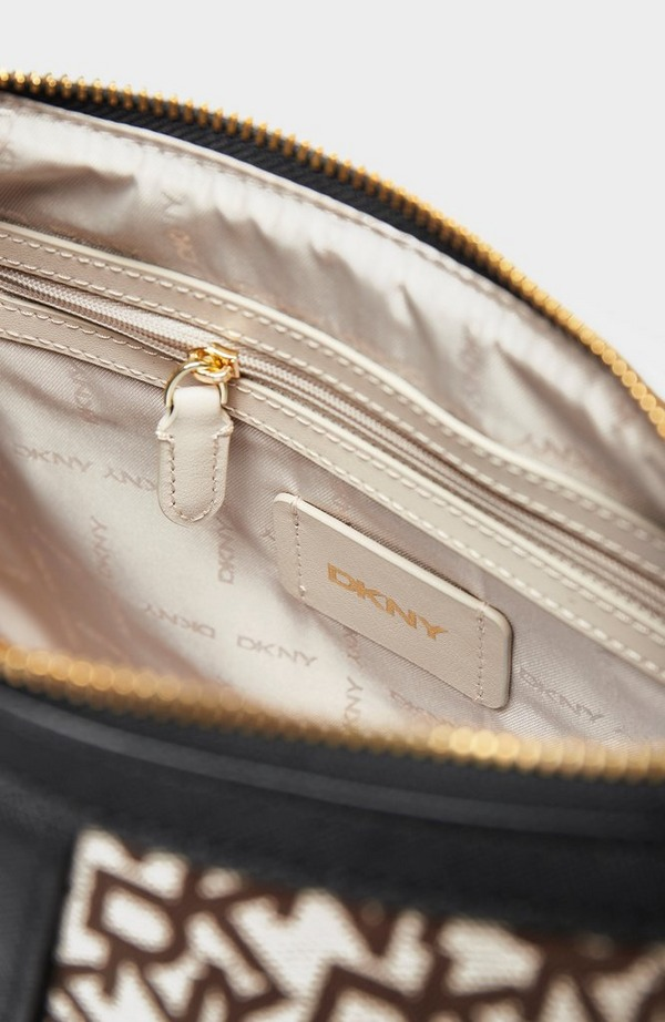 Carol Jacquard Logo Large Pouchette Bag