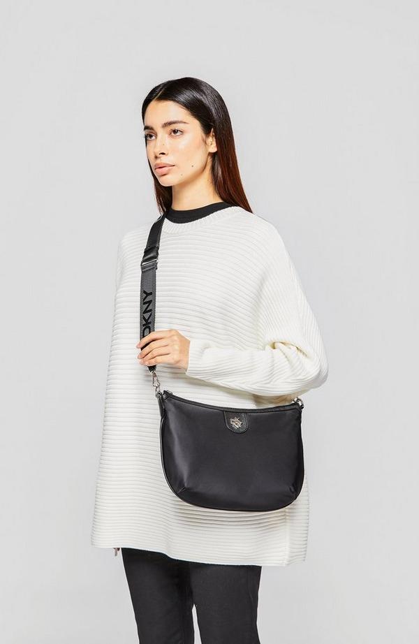 Carol Nylon Saddle Crossbody Bag