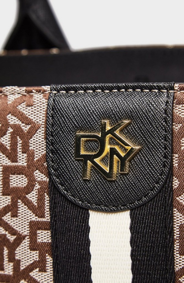 Carol Jacquard Logo Work Tote Bag