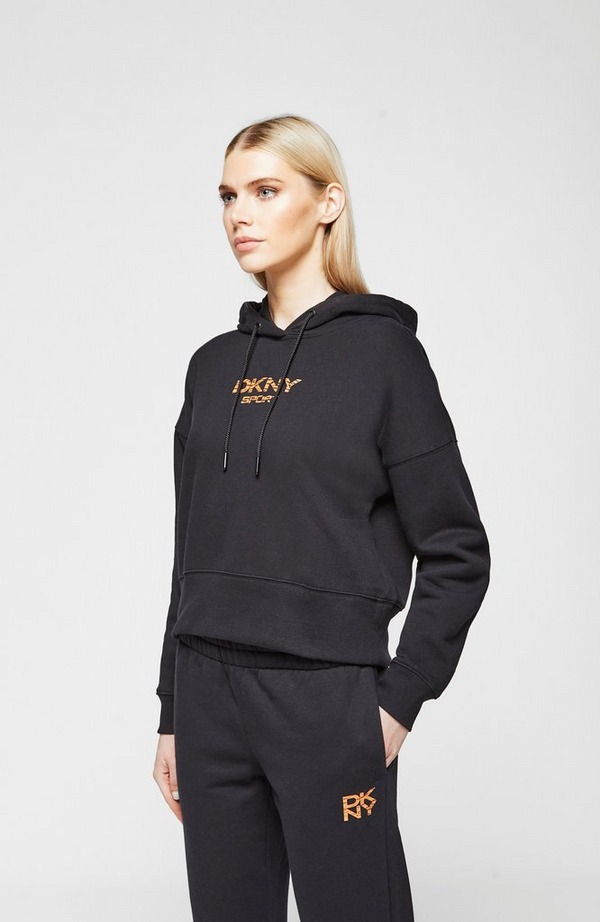 Tiger King Embroidered Cropped Hoodie