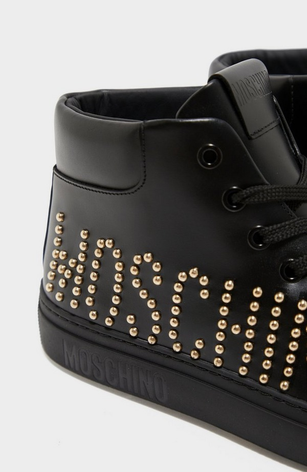 Studded Logo High Top Trainer