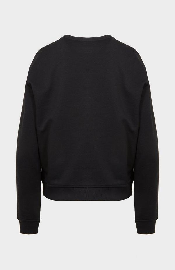 Black Heart Crew Neck Sweatshirt