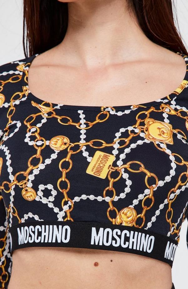 Chain & Pearl Long Sleeve Top