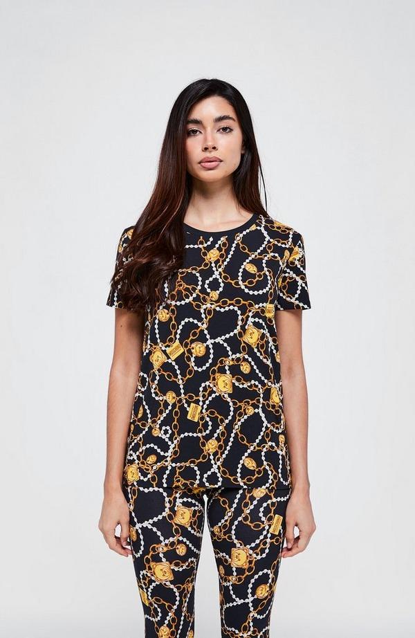 Chain & Pearl Short Sleeve T-Shirt